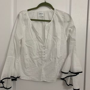 White Shirt with Hanging Sleeves